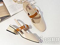 ZHR2018夏季新款韩版方头奶奶鞋