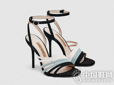 ZARA 女鞋 拼接带饰高跟凉鞋