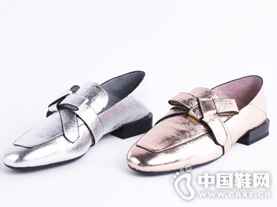 millies妙丽2018牛皮蝴蝶结深口方跟单鞋