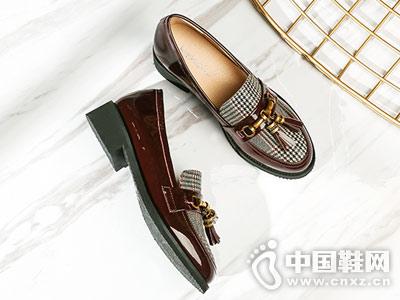 珂卡芙女2018秋季新款深口小皮鞋
