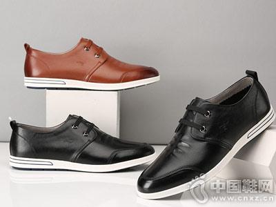 七匹狼男士休闲皮鞋夏季韩版潮鞋真皮男鞋