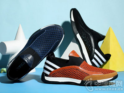 公牛世家夏季新款男鞋跑步鞋时尚休闲网布鞋