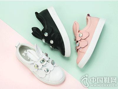 富罗迷18秋季新款韩版水钻大童休闲鞋