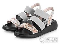 sundance太阳舞夏季时尚鳄鱼纹松糕底凉鞋