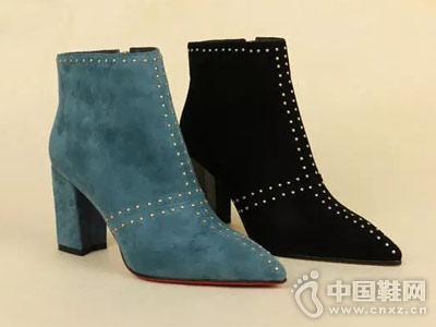 丹比奴时尚女鞋18年秋季新款短靴