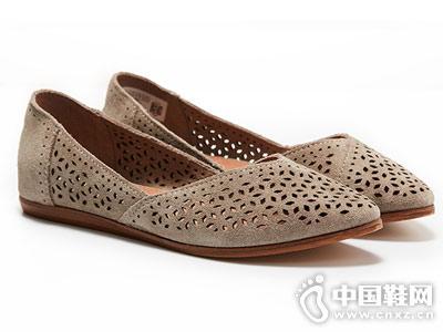 TOMS女鞋JUTTI平底鞋牛反�q皮鞋18新款