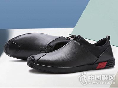 梦特娇男鞋2018新款休闲皮鞋