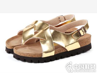 的沃Devo2018新款软木鞋