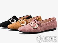 奥康皮鞋2018秋季新款平底鞋