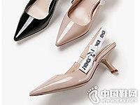 白领丽人2018秋季新品后空单鞋