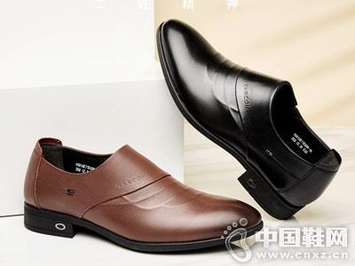 意尔康男鞋2018秋季皮鞋新品