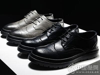马克华菲2018新款晚休闲皮鞋