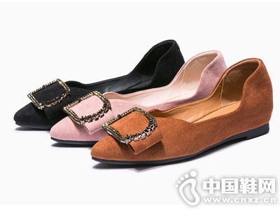 华耐女鞋2018秋季新款平底鞋