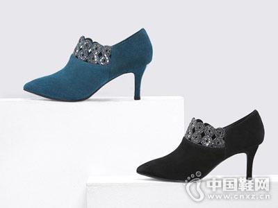 哈森2018秋季新品时尚单鞋