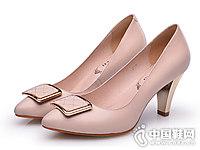 金猴真皮女鞋高跟鞋