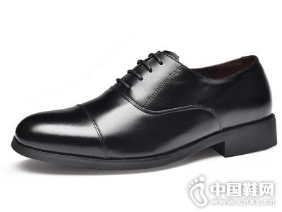 金猴真皮男鞋2018新款皮鞋