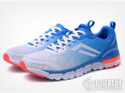 新款蓝白德尔惠运动鞋