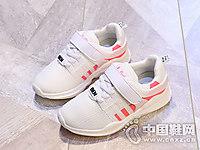 儿童运动白色透气板鞋