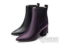 莱尔斯丹新款切尔西高跟短筒靴