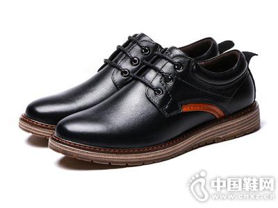 木林森男鞋2018秋季英伦休闲皮鞋