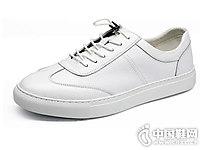 真皮小白鞋一脚蹬兽霸男板鞋