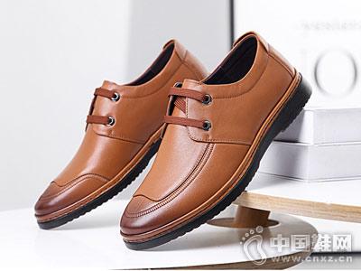 红蜻蜓休闲皮鞋真皮系带百搭英伦风休闲