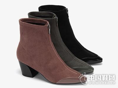 ONDU圆漾2018秋季新品时尚性感尖头短靴