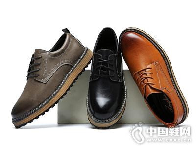 想川男式休闲皮鞋英伦时尚低帮单鞋