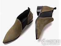 白领丽人2018冬新款复古时尚及踝靴