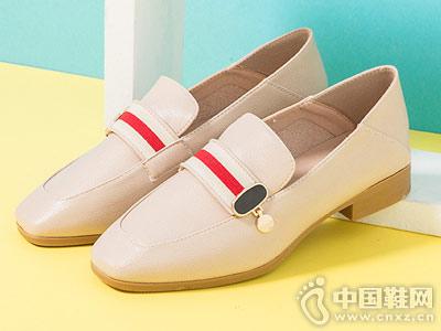 大东单鞋女乐福鞋复古奶奶鞋