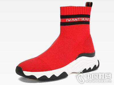 王丽坤联名款 SKAP圣伽步针织袜套女靴