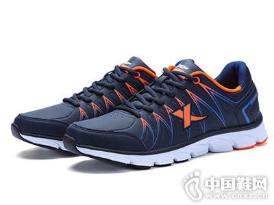 特步男鞋运动鞋新款透气皮革跑步鞋