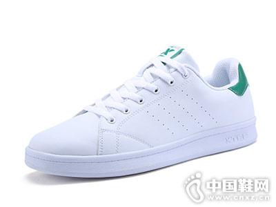 情侣板鞋特步正品小白鞋