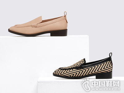 乐福鞋平底鞋民族风舒适CHARLES&KEITH单鞋