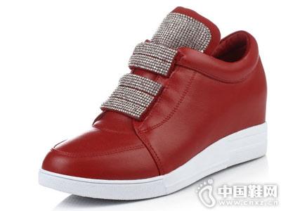 普兰妮内增高女鞋平底运动休闲鞋