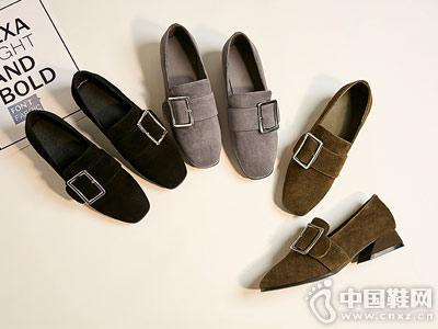 秋季粗跟单鞋普兰妮一脚蹬懒人鞋