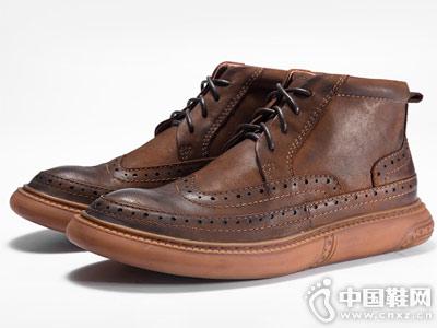 男士马丁靴布洛克男鞋复古短靴子