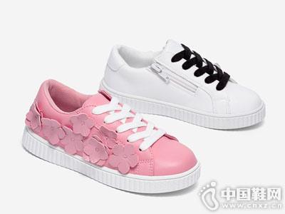 童运动鞋韩版斯纳菲小白鞋
