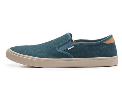 TOMS男鞋18新款套脚板鞋帆布懒人鞋