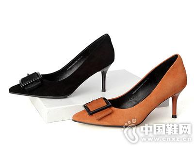 百田森2018秋季新款尖头高跟鞋