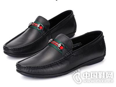 蜘蛛王男鞋2018新款豆豆鞋
