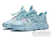 儿童跑步鞋网面透气一脚蹬跑鞋