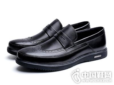 秋季雕花男鞋真皮休闲布洛克皮鞋