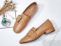 意尔康女鞋2018秋季新款英伦风单鞋