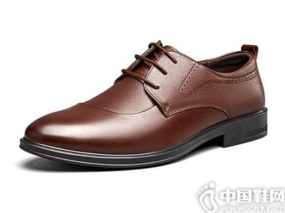 秋季新款韩版软底真皮意尔康男鞋