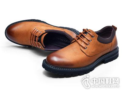 富贵鸟男鞋2018秋季新款皮鞋