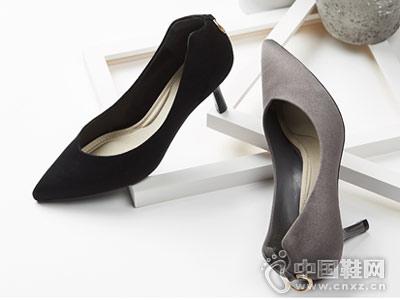 shoebox鞋柜新款杜拉拉细跟尖头高跟鞋