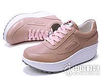 吉祥鸟女鞋2018秋季女摇摇松糕鞋