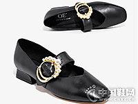 秋季新款单鞋低跟欧意浅口单鞋