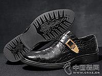 真皮鳄鱼纹正装保罗骑士男鞋潮单鞋